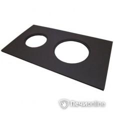 Комплектующие для печей и котлов НМК Сибирь Плита металическая ПС-2 с двумя конфорками без кружков