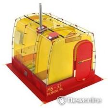 Мобильная баня Мобиба МБ-32 жёлто-красная
