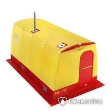 Мобильная баня Мобиба МБ-42 жёлто-красная