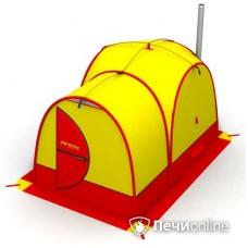 Мобильная баня Мобиба МБ-25 жёлто-красная