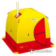 Мобильная баня Мобиба МБ-1 жёлто-красная (палатка без печки)
